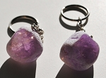 Amethyst Seer Stone Window Quartz Key Chain #010215