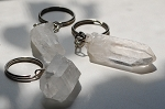 Clear Quartz Crystal Point key chain #121515