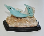 Blue Quartz Dolphin Carving #052012