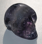Rainbow Fluorite Skull Carving #011315