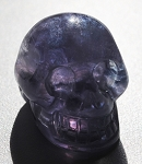 Rainbow Fluorite Skull Carving #211315