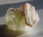 Green Apophyllite and Stilbite Natural Crystal Cluster #020413