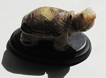 Picture Jasper Turtle Totem Carving #100713