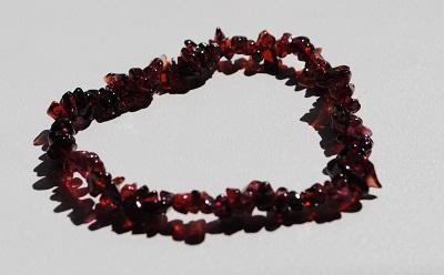 Red Garnet Bead Bracelet