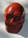 Red Jasper Skull Carving #123115