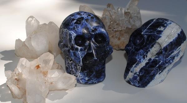 Crystal skull carvings raven crystals