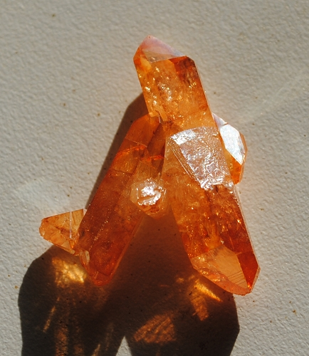 Tangerine Sun Aura Quartz Crystal Aka Imperial Gold Aura