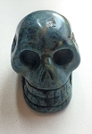 Blue Apatite Skull Carving #082717