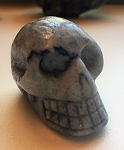 Blue Quartz Skull Carving #042817