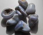 Blue Holly Agate Tumbled Stones #011316