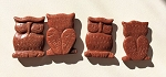 Goldstone Owl Totem Bead Carving #021317