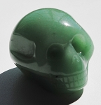 Green Aventurine Skull Carving #231716