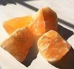 Orange Calcite Natural Crystals #021217