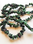 Ruby in Zoisite Natural Crystal Chip Bracelet #072316