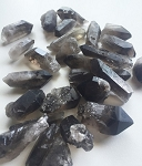Natural Black Smoky Quartz Crystal Point #062416