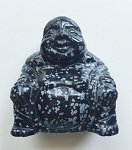 Snowflake Obsidian Buddha Carving #071916