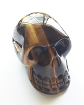Golden Tiger's Eye Skull Carving #072616
