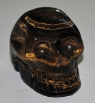 Golden Tiger's Eye Polished Skull #071713