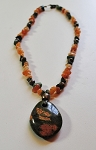 Unakite Pendant and Gemstone Necklace #181311
