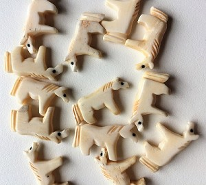 Carved Bone Horse Totem Bead #021817