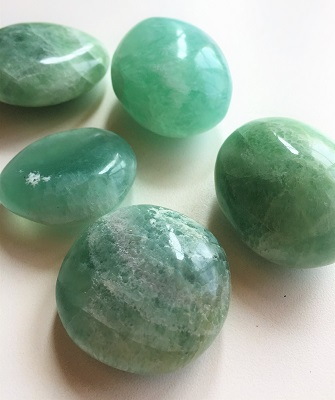 green fluorite tumbled stones green crystals