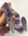 Natural Amethyst Crystal Points with Calcite #050520