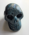Blue Apatite Skull Carving #091417