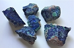 Natural Druzy Azurite Crystals with Malachite and Conichalcite #050920
