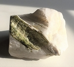 Green Tourmaline Rod in Quartz Matrix #120917