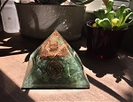 Green Aventurine Orgonite Pyramid #102420