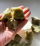 Natural Green Opal Rough Crystals #121120