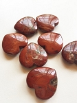 Red Jasper Polished Heart Carving #082718