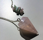 Rose Quartz Crystal Pendulum #092720