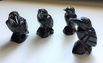 Soapstone Carved Raven Totems #052818