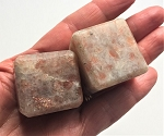 Sunstone Polished Cube Carvings #060520