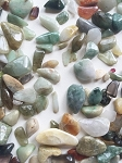 Multi-colored Jade Tumble stones #050416