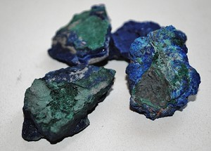 Azurite Natural Crystal with Malachite #022316