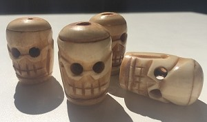 Vintage Bone Skull Bead Carving #102316