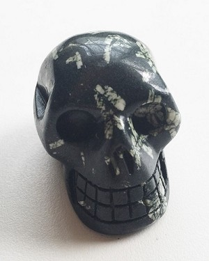 Chrysanthemum Stone Polished Skull Carving
