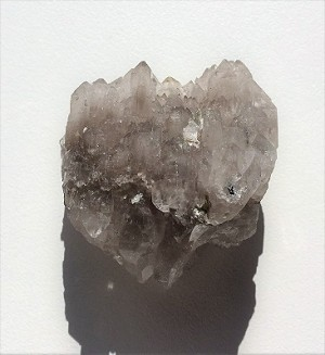 Elestial Smoky Grey Quartz Crystal #122318