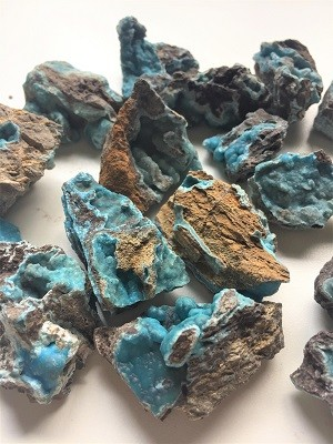 Blue Hemimorphite Natural Crystal #051319