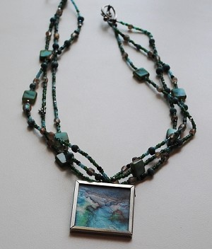 Portal Art with Gemstones Necklace #151411
