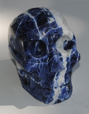Sodalite Carved Crystal Skull #290915